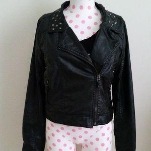 Body Central Leather Jacket Size M